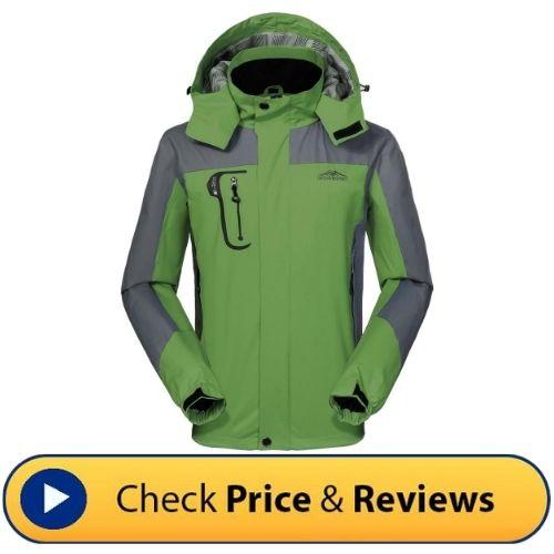 GIVBRO Waterproof Outdoor Rain Jacket - The Top 10 Best Men's Hiking Jackets that you'll love