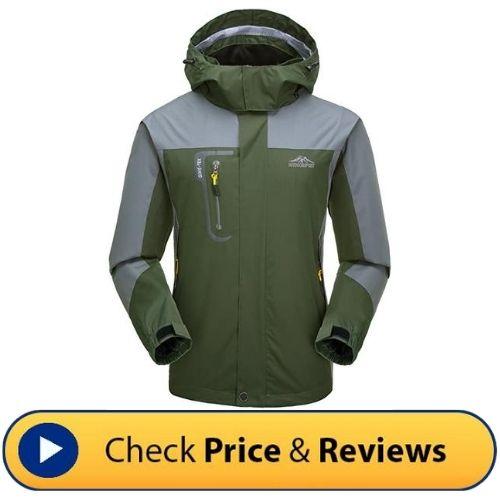 Kischers Mens Waterproof Rain Jacket - The Top 10 Best Men's Hiking Jackets that you'll love