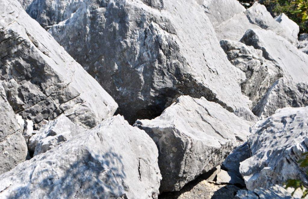 A few large dolomite rocks
